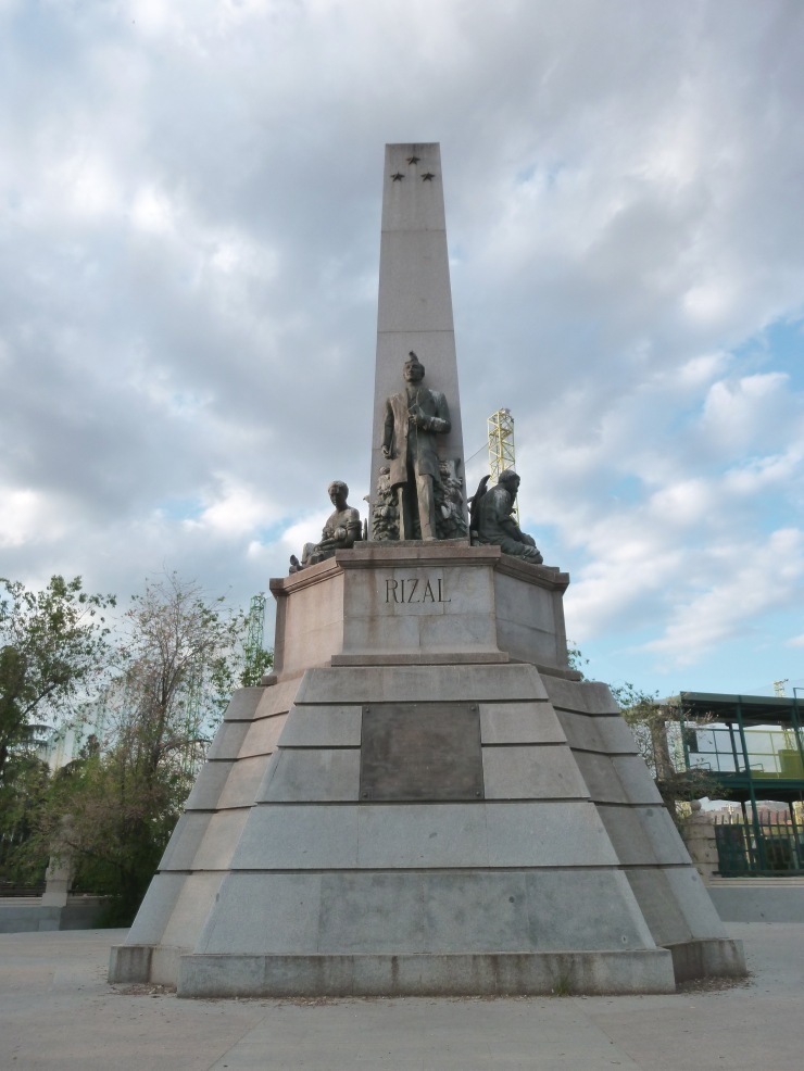 MONUMENT to JOSE RIZAL in Chamberi district in Madrid (Spain).